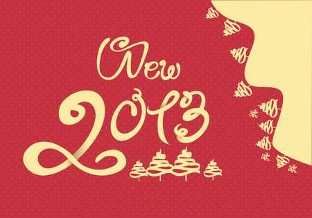 Happy New Year 2013 illustration Vector