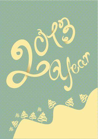 Happy 2013 year illustration Stock Vector - 15572853