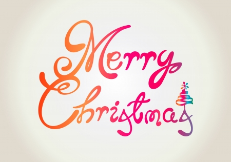 Merry Christmas text design Vector