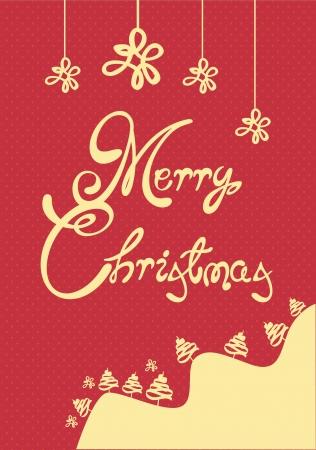Merry Christmas Card Stock Vector - 15572856
