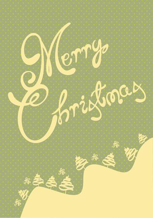 Retro Merry Christmas card illustration Vector