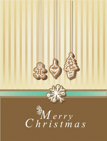 Merry Christmas card with elements Vector