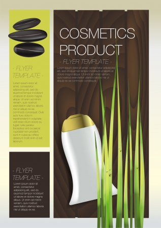 catalogue: Spa Cosmetic flyer Illustration