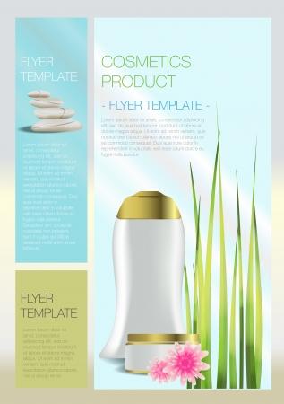 Spa Cosmetic d�pliant Illustration