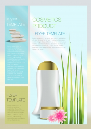 catalog templates: Spa Cosmetic flyer Illustration