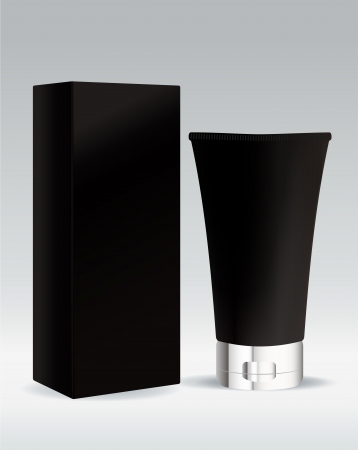 Cosmetic standing tube for cream or gel