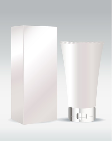 Cosmetic standing tube for cream or gel Vector