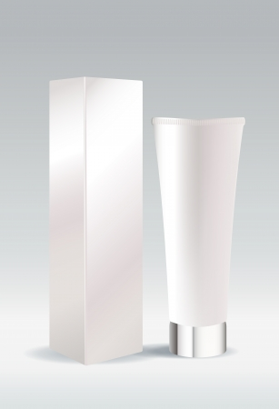 Cosmetic tube package for cream or gel Illustration