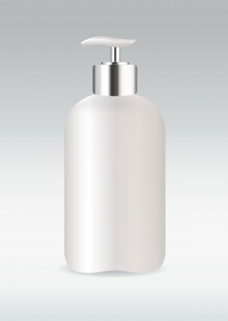 White cosmetic bottle Vector