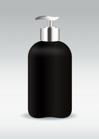 Black cosmetic bottle container