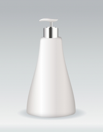 aftershave: Cosmetic container bottle for soap or gel