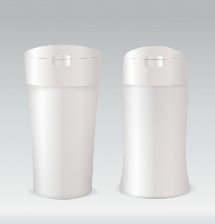 render: Cosmetic container bottle for shower gel, body lotion or shampoo
