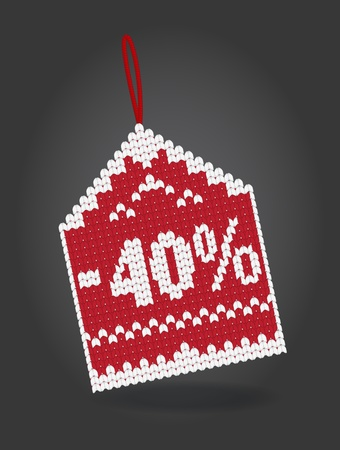 markdown: 40 percent off discount price tag