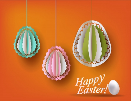 Easter eggs decoration vector illustration Vector