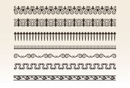 Decorative borders  illustration Stock Vector - 17094340