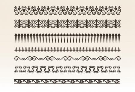 Decorative borders  illustration Stock Vector - 17094340