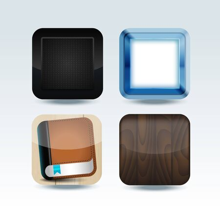 Modern colorful app icon set Vector