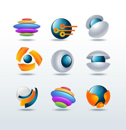 Moderne abstraite ic�ne ensemble Illustration