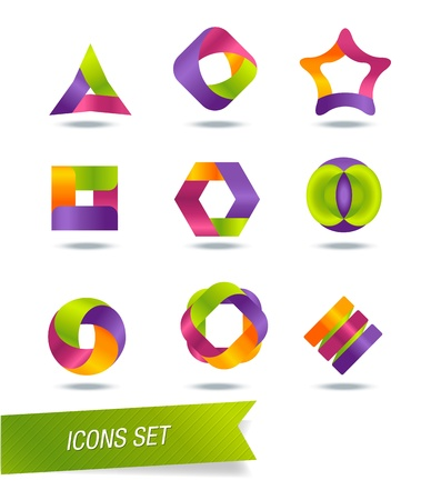 set of icons Stock Vector - 20670625