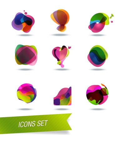 infinite symbol: abstract shape icons