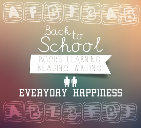 Back to school - blurred background Vector