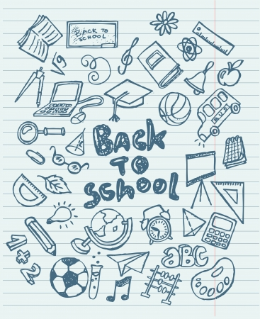 Back to school sketchy doodles Vector