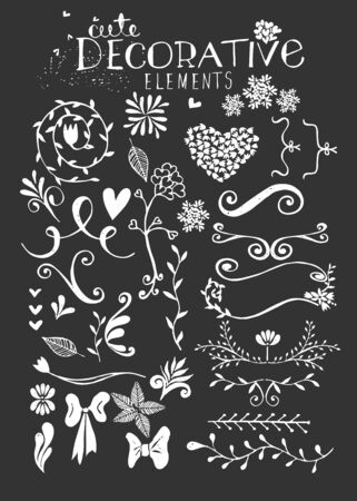 ornamental scroll: Hand Drawn Vintage Floral Vector Illustration Illustration