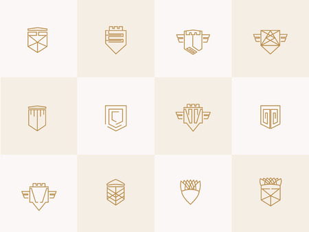 trendy: Geometric trendy hipster Icons