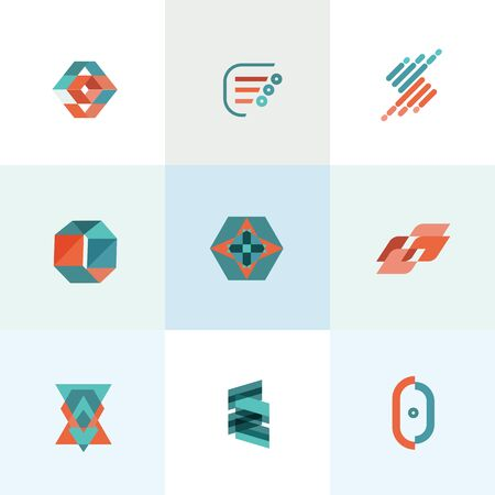 colorfully: Modern business flat set of icons illustration