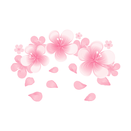 Light pink flowers and flying petals isolated on white background light pink flowers and flying petals isolated on white background stock vector 93263546 mightylinksfo