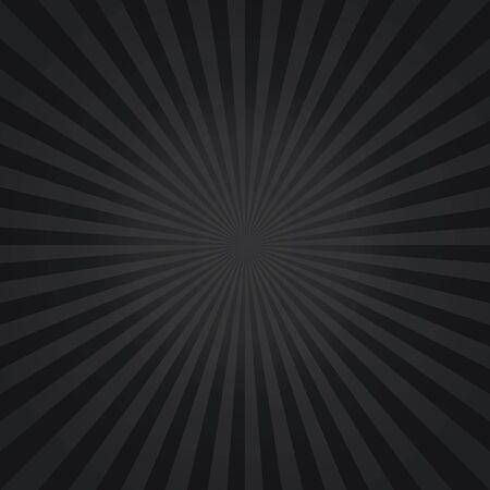 Abstract Dark Black rays background. Vector Vector Illustratie