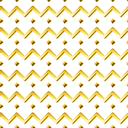 Gold diamond and diagonal pattern in white back drop Illustration
