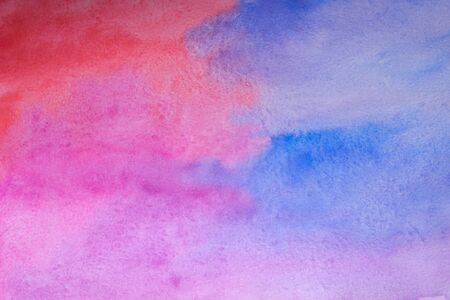 Pink and blue abstract watercolor background.Watercolor Wet Background. Hand painted watercolor background. Watercolor wash. Abstract painting.