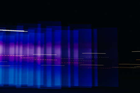 Abstract blue and purple background, colorful night lights and light representation