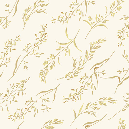 backcloth: Vector seamless floral pattern with herbs. Illustration
