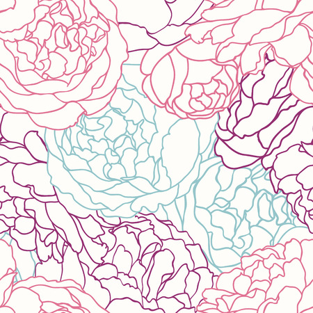 Vector seamless texture with flowers roses. Vector