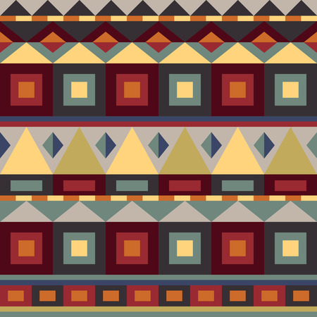 seamless geometric pattern in retro colors. Vector