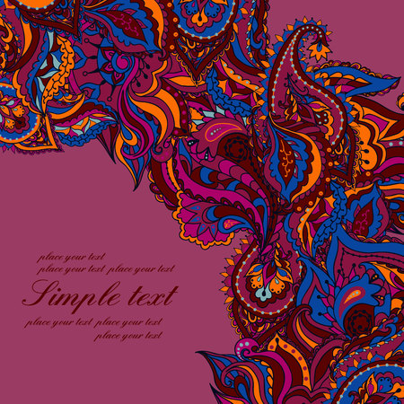 Vector abstract background with a paisley pattern. Vector