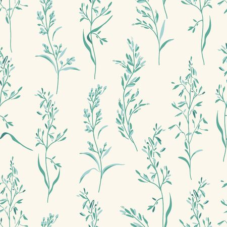 green floral: Vector seamless floral pattern. Illustration