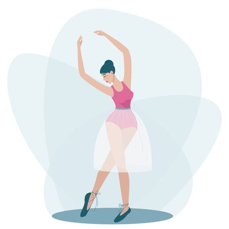 A dancing girl is standing in a beautiful pose
