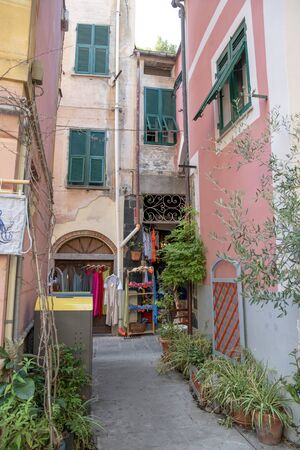 Street of Monterosso, Cinque Terre, Italy, 6 September 2019