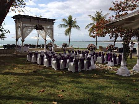 boda en la playa: Boda de playa Foto de archivo