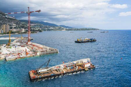 Monaco's Expansion Into the Mediterranean Sea Stok Fotoğraf