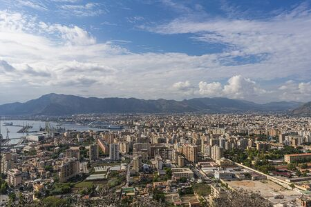 Palermo city and coastline, Italy, Sicily