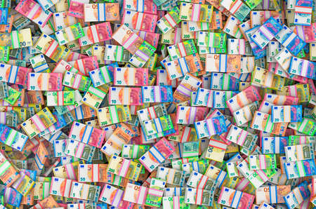 Background from pile of euro packs, 3D rendering Stock fotó