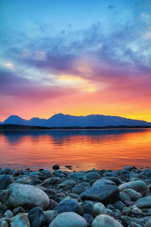 Colorful twilight reflection