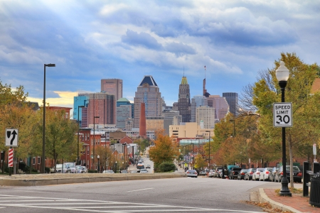 md: Baltimore downtown landscape