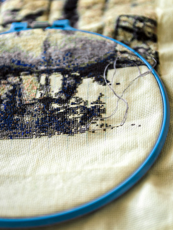 fancywork: thread for embroidery Stock Photo