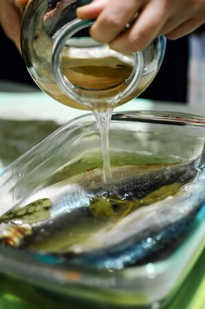 salting herring at home