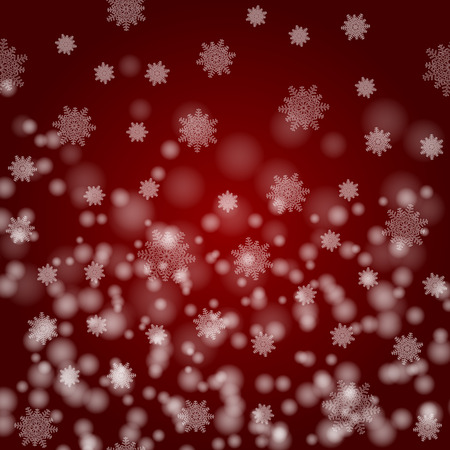 Beautiful image of Christmas. White snowflakes on a claret background. New Year`s vector illustration. Stok Fotoğraf - 91075963